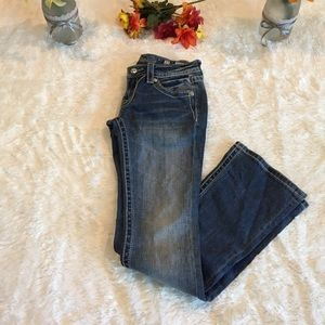 Miss Me Signature Boot Bling Jeans Sz 27